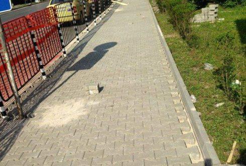 Изграждане на тротоари